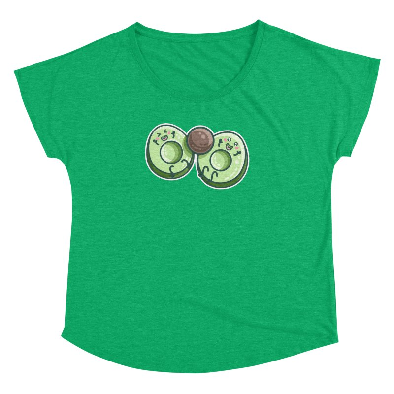 Kawaii Cute Avocados Playing Women's Scoop Neck by Flaming Imp's Artist Shop