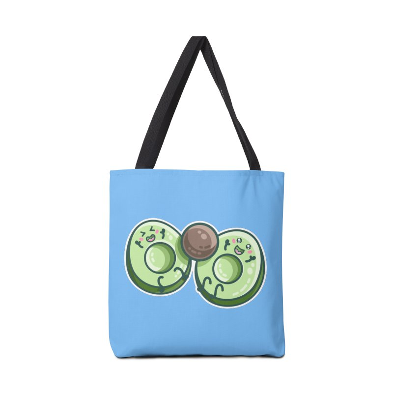 Kawaii Cute Avocados Playing Accessories Tote Bag Bag by Flaming Imp's Artist Shop