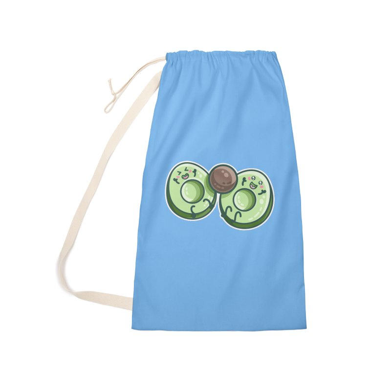 Kawaii Cute Avocados Playing Accessories Laundry Bag Bag by Flaming Imp's Artist Shop