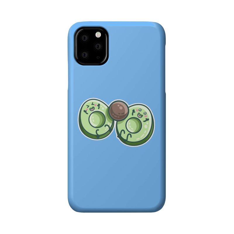 Kawaii Cute Avocados Playing Accessories Phone Case by Flaming Imp's Artist Shop