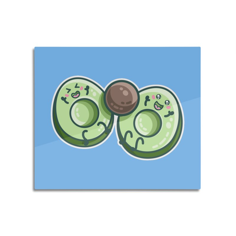 Kawaii Cute Avocados Playing Home Mounted Acrylic Print by Flaming Imp's Artist Shop