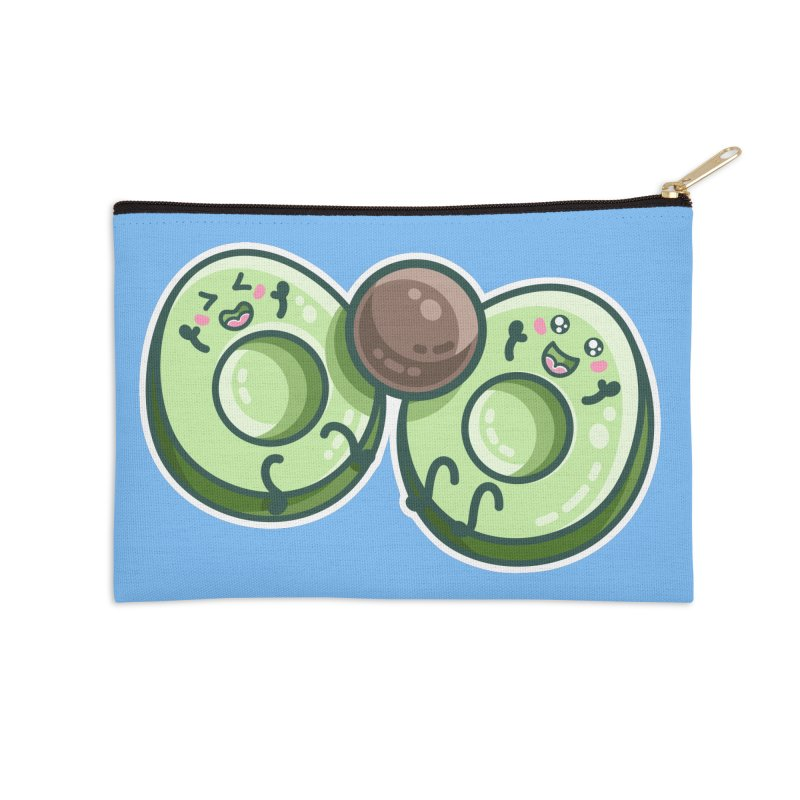 Kawaii Cute Avocados Playing Accessories Zip Pouch by Flaming Imp's Artist Shop
