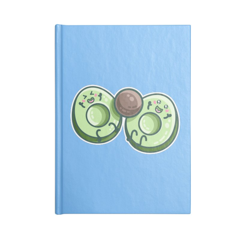 Kawaii Cute Avocados Playing Accessories Blank Journal Notebook by Flaming Imp's Artist Shop
