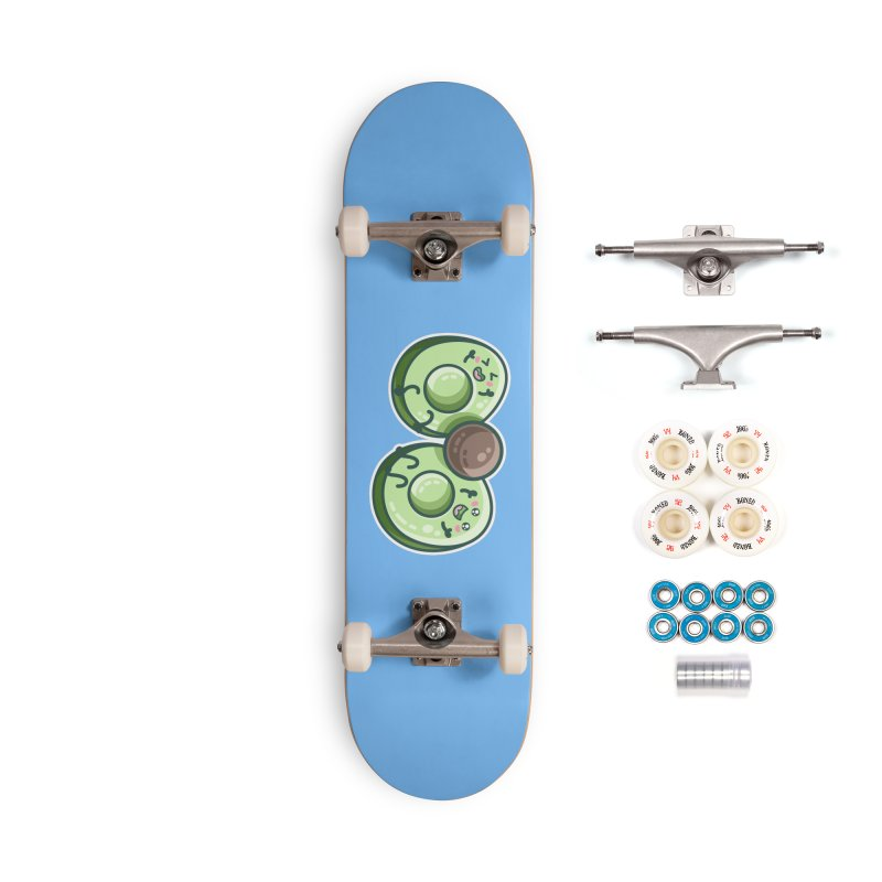 Kawaii Cute Avocados Playing Accessories Complete - Premium Skateboard by Flaming Imp's Artist Shop