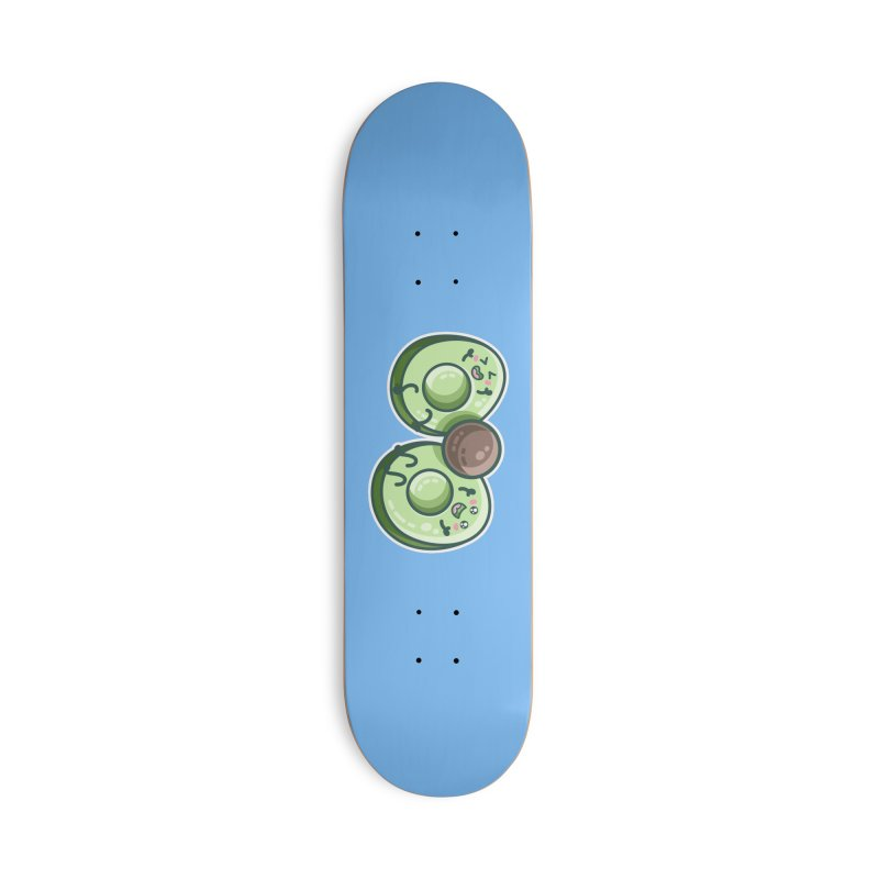 Kawaii Cute Avocados Playing Accessories Skateboard by Flaming Imp's Artist Shop