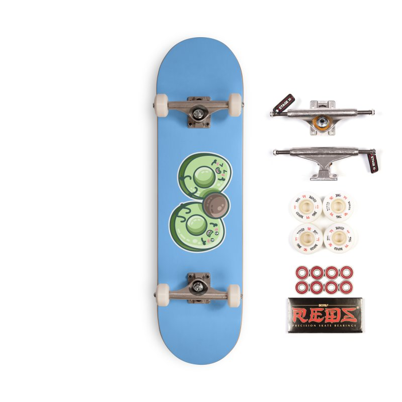 Kawaii Cute Avocados Playing Accessories Complete - Pro Skateboard by Flaming Imp's Artist Shop