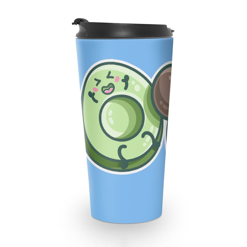 Kawaii Cute Avocados Playing Accessories Travel Mug by Flaming Imp's Artist Shop
