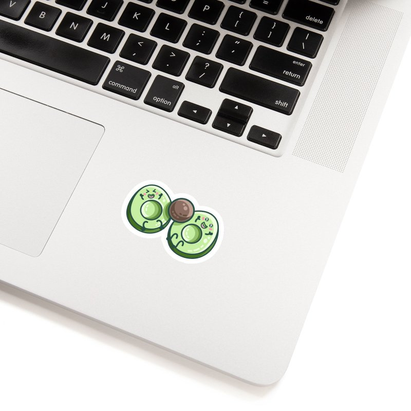 Kawaii Cute Avocados Playing Accessories Sticker by Flaming Imp's Artist Shop