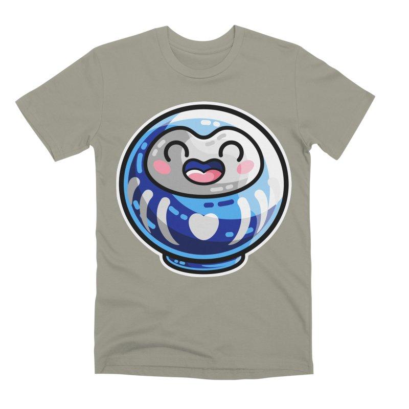 Kawaii Cute Japanese Daruma Doll Men's Premium T-Shirt by Flaming Imp's Artist Shop