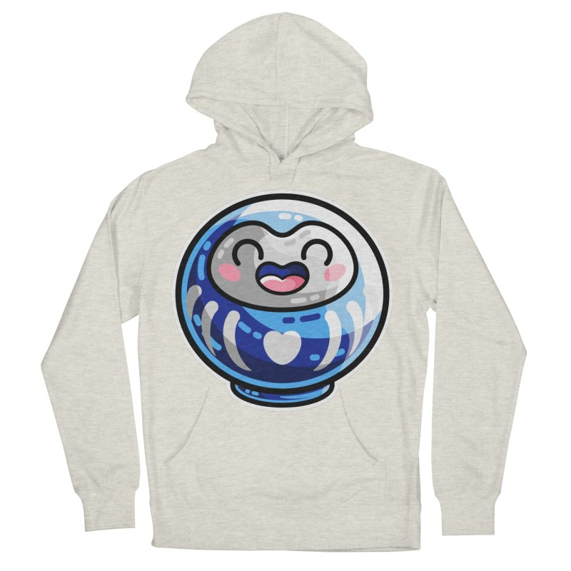 Kawaii Cute Japanese Daruma Doll Women's French Terry Pullover Hoody by Flaming Imp's Artist Shop