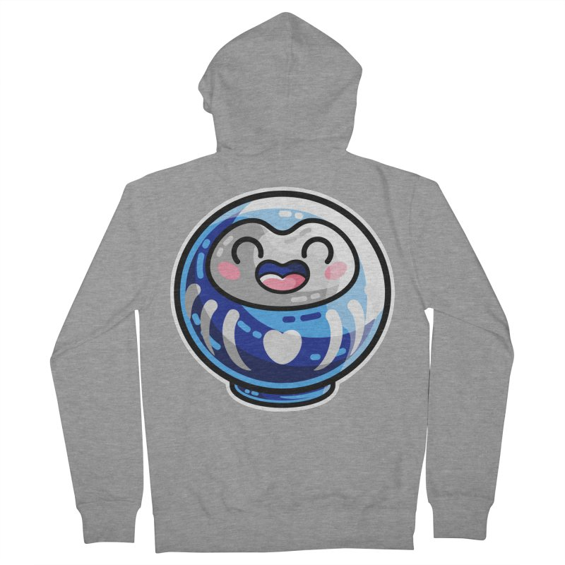 Kawaii Cute Japanese Daruma Doll Women's French Terry Zip-Up Hoody by Flaming Imp's Artist Shop