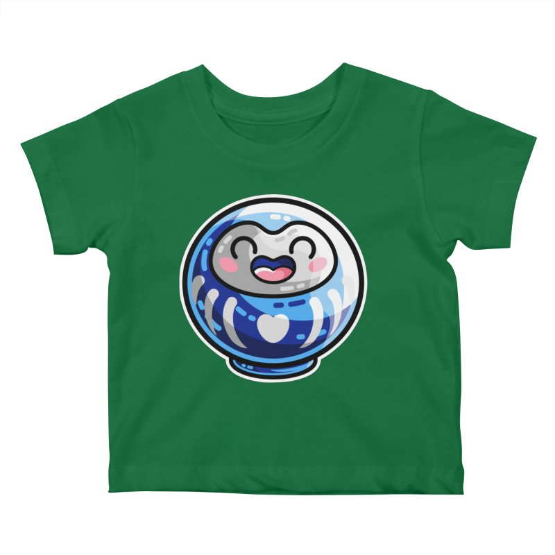 Kawaii Cute Japanese Daruma Doll Kids Baby T-Shirt by Flaming Imp's Artist Shop