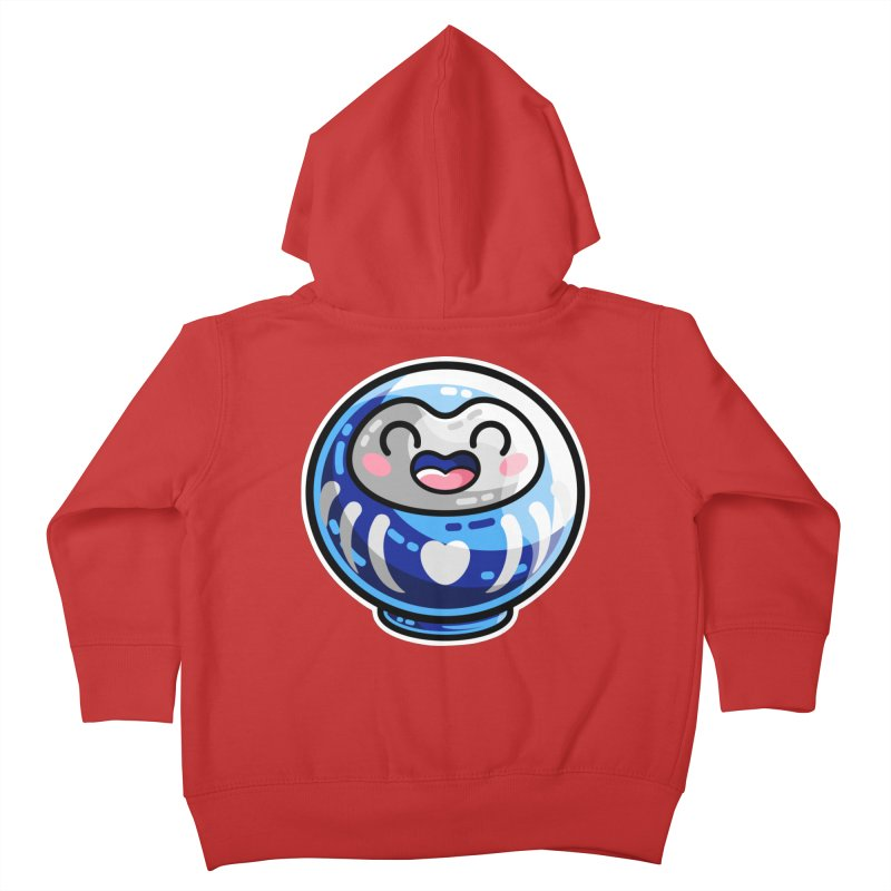Kawaii Cute Japanese Daruma Doll Kids Toddler Zip-Up Hoody by Flaming Imp's Artist Shop
