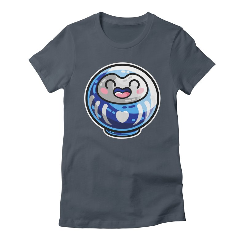Kawaii Cute Japanese Daruma Doll Women's T-Shirt by Flaming Imp's Artist Shop