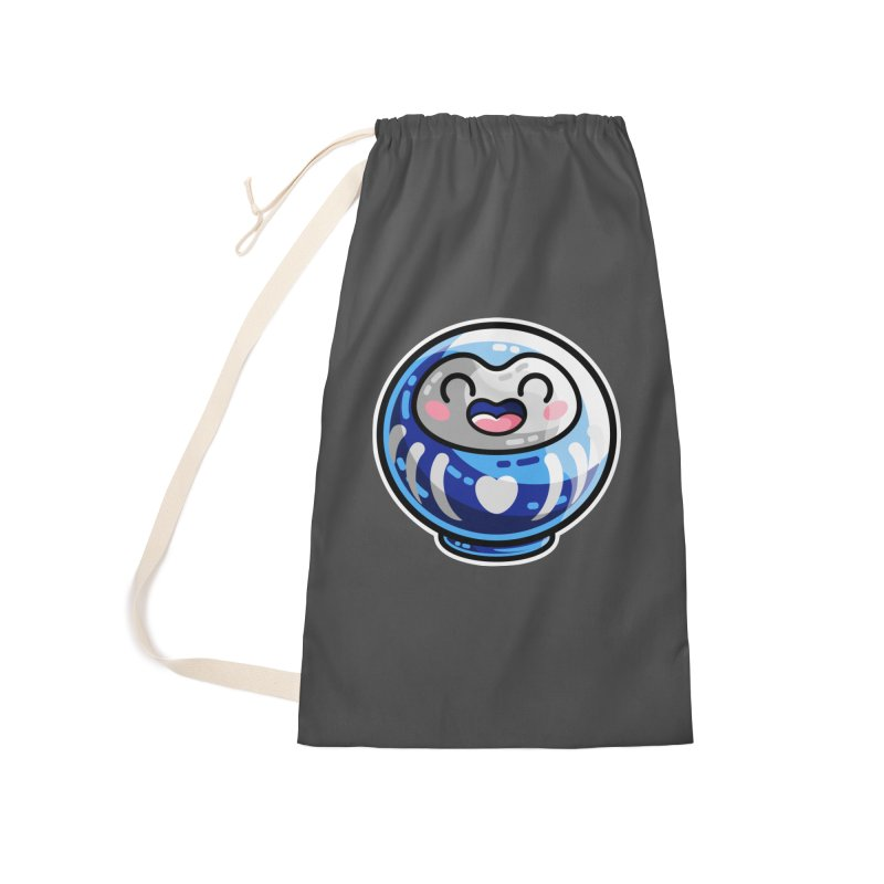 Kawaii Cute Japanese Daruma Doll Accessories Laundry Bag Bag by Flaming Imp's Artist Shop