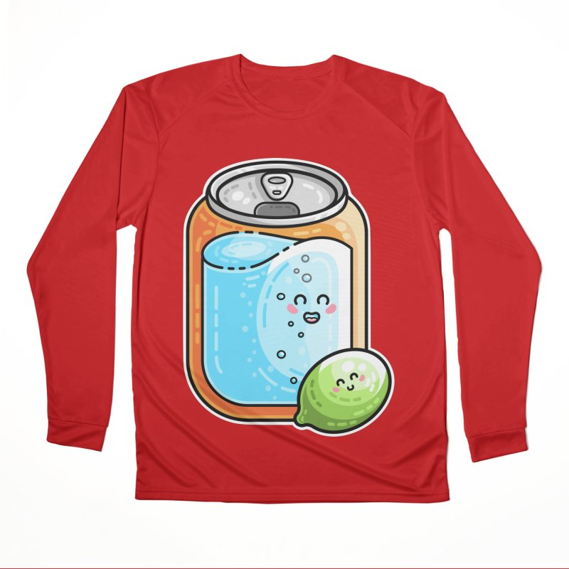 Kawaii Cute Lime and Soda Can Women's Performance Unisex Longsleeve T-Shirt by Flaming Imp's Artist Shop
