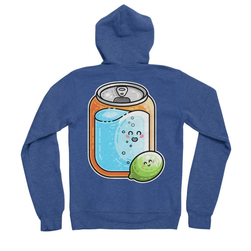 Kawaii Cute Lime and Soda Can Women's Sponge Fleece Zip-Up Hoody by Flaming Imp's Artist Shop