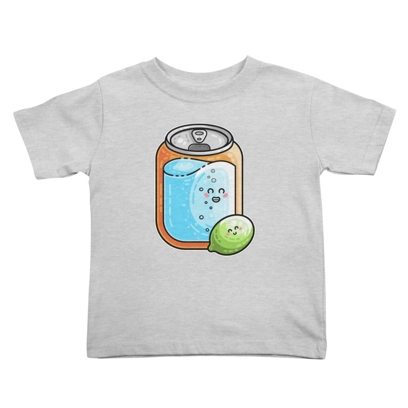 Kawaii Cute Lime and Soda Can Kids Toddler T-Shirt by Flaming Imp's Artist Shop