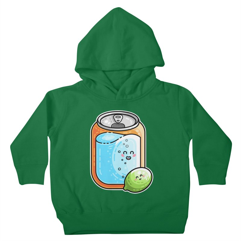 Kawaii Cute Lime and Soda Can Kids Toddler Pullover Hoody by Flaming Imp's Artist Shop