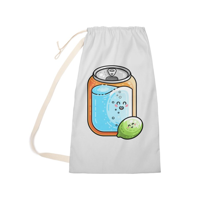 Kawaii Cute Lime and Soda Can Accessories Laundry Bag Bag by Flaming Imp's Artist Shop