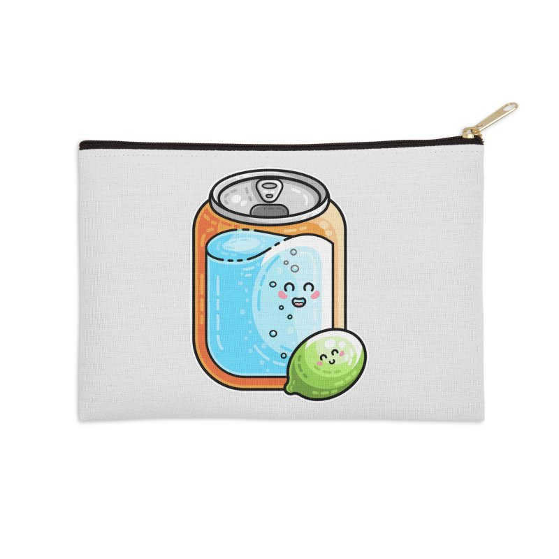 Kawaii Cute Lime and Soda Can Accessories Zip Pouch by Flaming Imp's Artist Shop