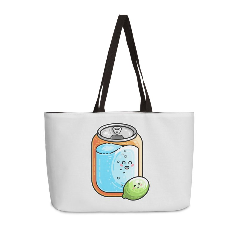 Kawaii Cute Lime and Soda Can Accessories Weekender Bag Bag by Flaming Imp's Artist Shop