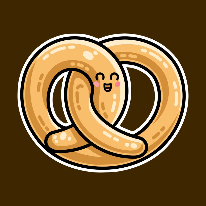 Kawaii Cute Pretzel Snack Food by Flaming Imp's Artist Shop