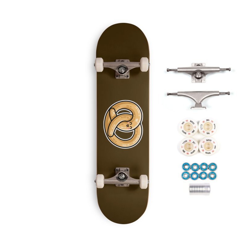 Kawaii Cute Pretzel Snack Food Accessories Complete - Premium Skateboard by Flaming Imp's Artist Shop