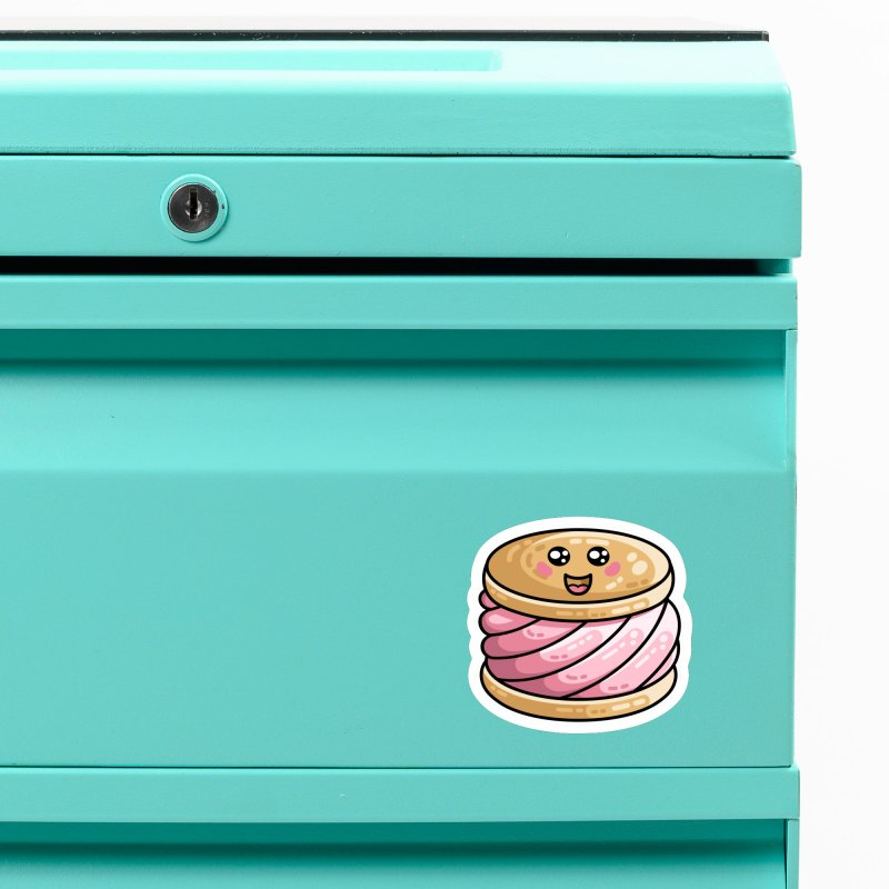 Kawaii Cute Ice Cream Sandwich Accessories Magnet by Flaming Imp's Artist Shop
