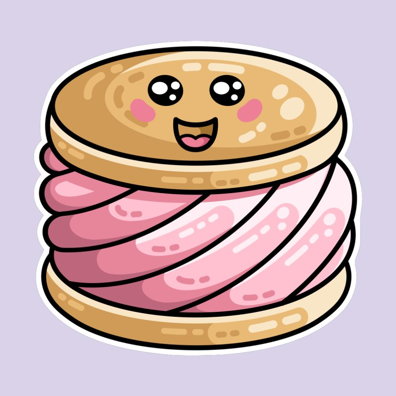 Kawaii Cute Ice Cream Sandwich by Flaming Imp's Artist Shop