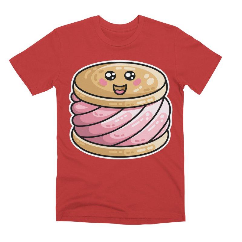 Kawaii Cute Ice Cream Sandwich Men's Premium T-Shirt by Flaming Imp's Artist Shop