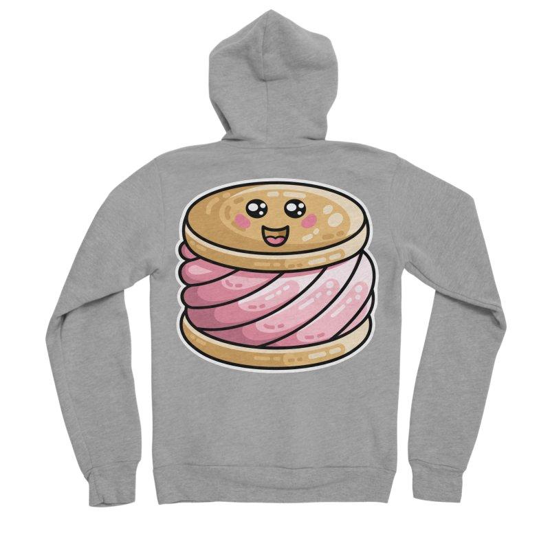 Kawaii Cute Ice Cream Sandwich Men's Sponge Fleece Zip-Up Hoody by Flaming Imp's Artist Shop