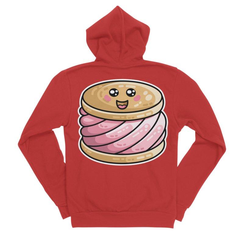 Kawaii Cute Ice Cream Sandwich Women's Sponge Fleece Zip-Up Hoody by Flaming Imp's Artist Shop