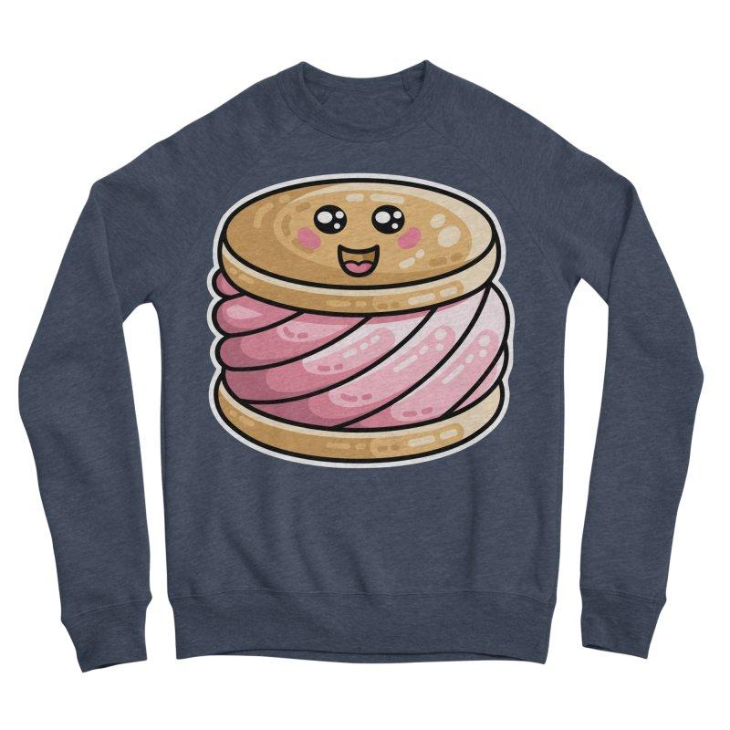 Kawaii Cute Ice Cream Sandwich Men's Sponge Fleece Sweatshirt by Flaming Imp's Artist Shop