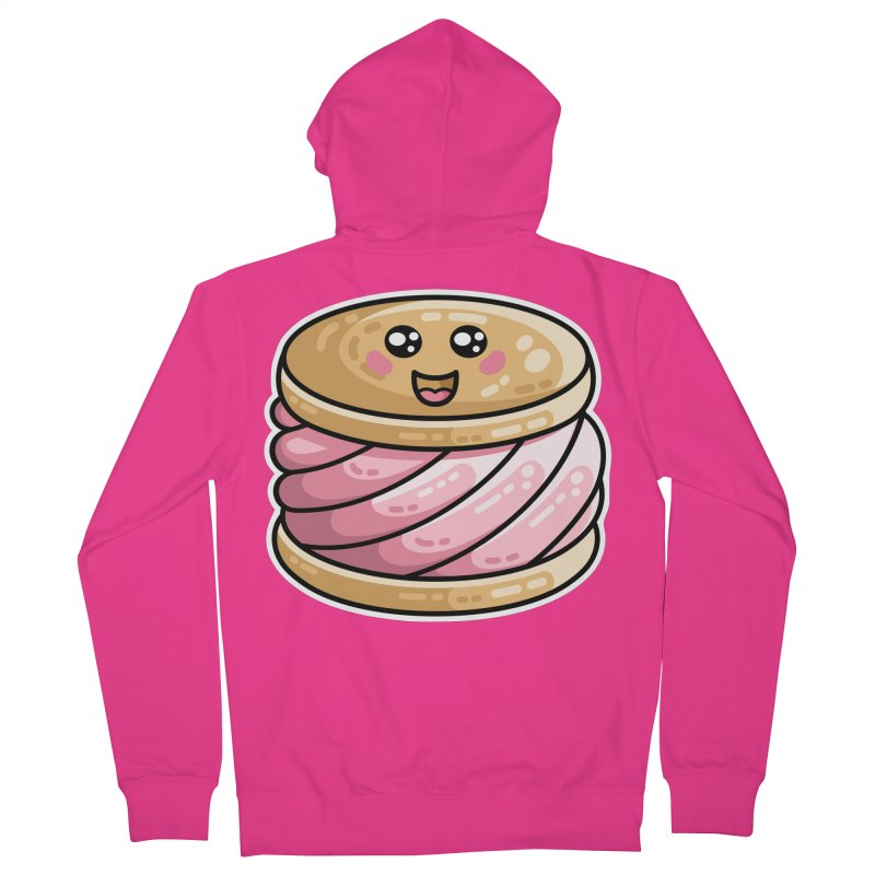 Kawaii Cute Ice Cream Sandwich Men's French Terry Zip-Up Hoody by Flaming Imp's Artist Shop