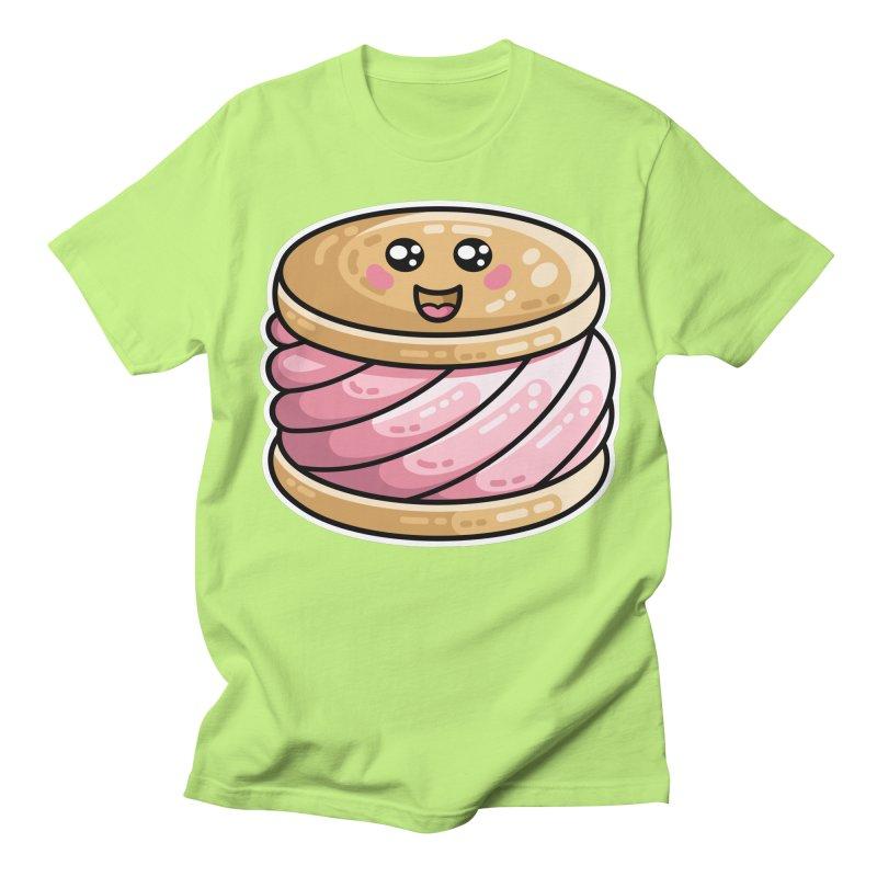 Kawaii Cute Ice Cream Sandwich Men's Regular T-Shirt by Flaming Imp's Artist Shop