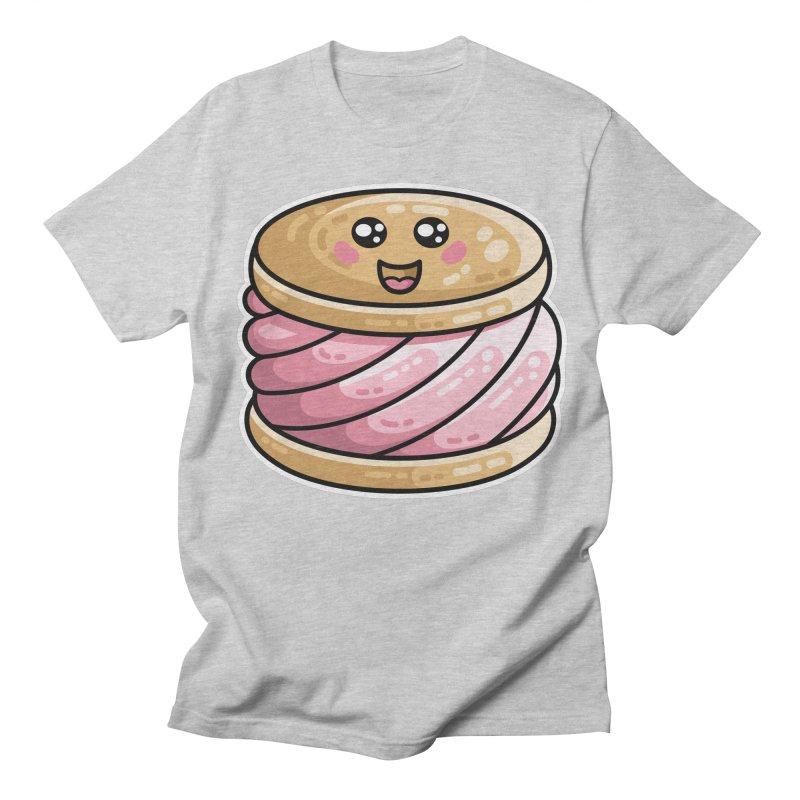 Kawaii Cute Ice Cream Sandwich Women's Regular Unisex T-Shirt by Flaming Imp's Artist Shop