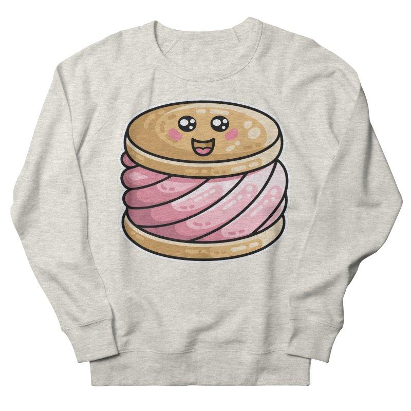 Kawaii Cute Ice Cream Sandwich Men's French Terry Sweatshirt by Flaming Imp's Artist Shop