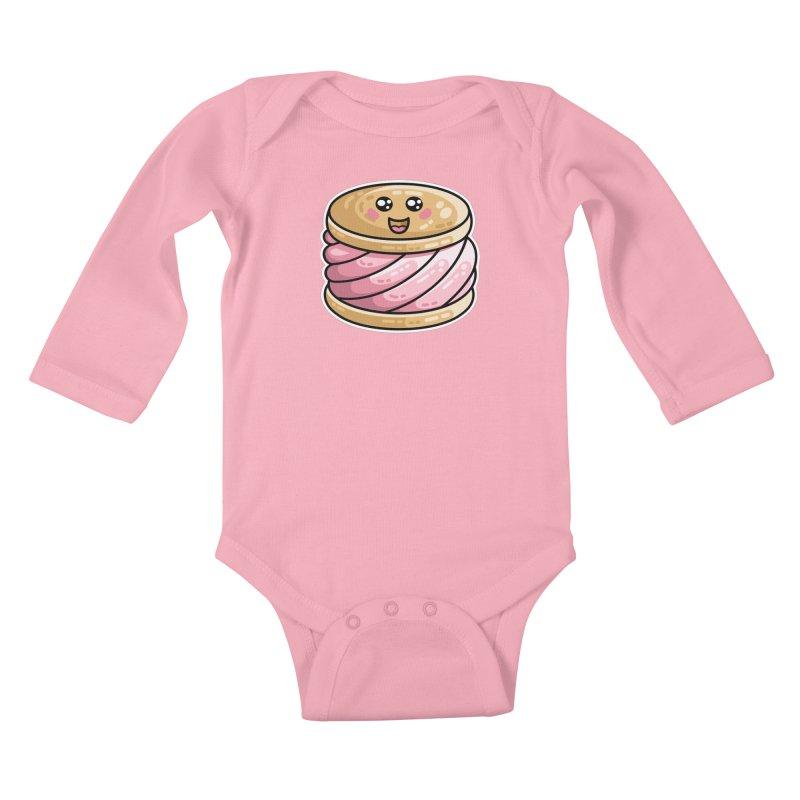 Kawaii Cute Ice Cream Sandwich Kids Baby Longsleeve Bodysuit by Flaming Imp's Artist Shop