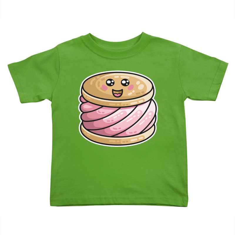Kawaii Cute Ice Cream Sandwich Kids Toddler T-Shirt by Flaming Imp's Artist Shop