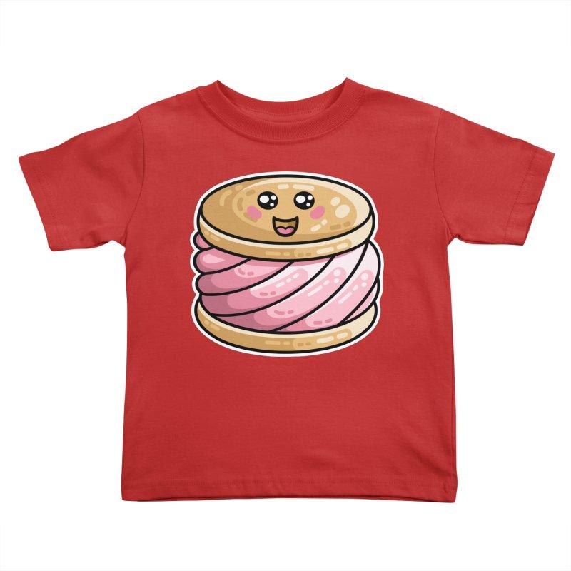 Kawaii Cute Ice Cream Sandwich Kids Toddler T-Shirt by Flaming Imp's Artist Shop