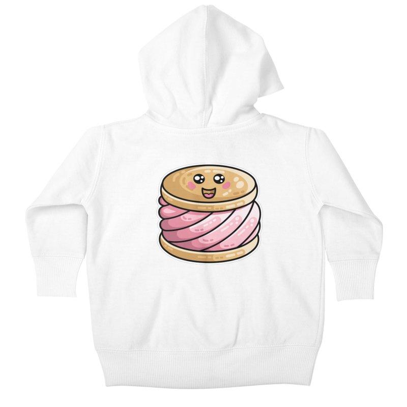 Kawaii Cute Ice Cream Sandwich Kids Baby Zip-Up Hoody by Flaming Imp's Artist Shop