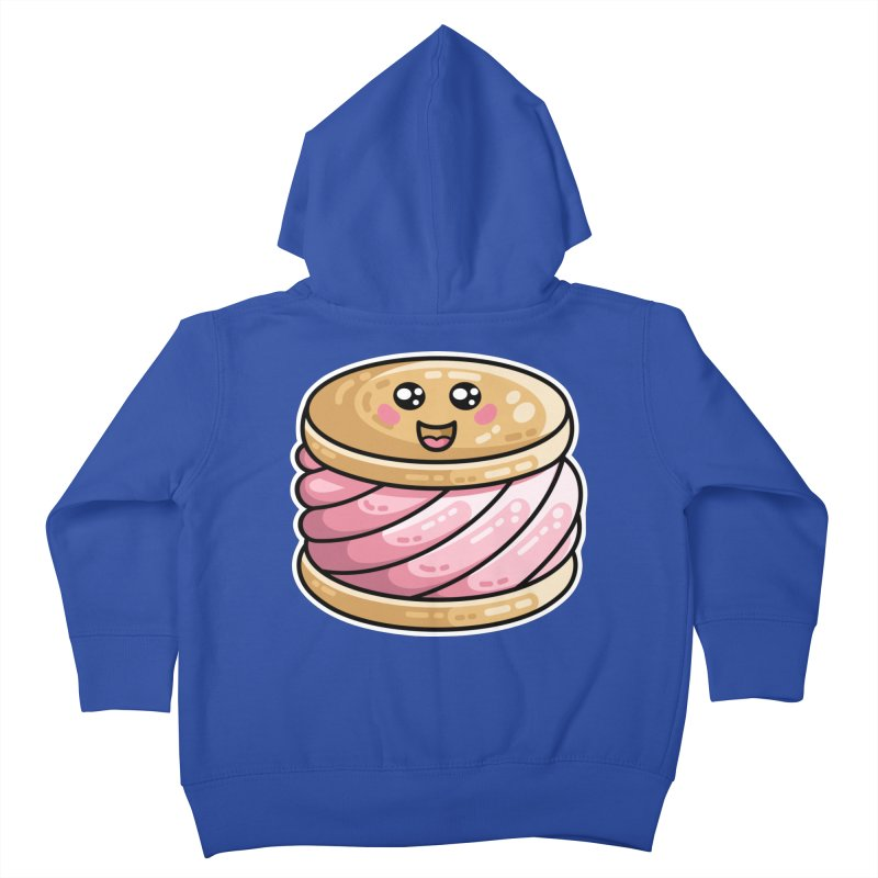 Kawaii Cute Ice Cream Sandwich Kids Toddler Zip-Up Hoody by Flaming Imp's Artist Shop