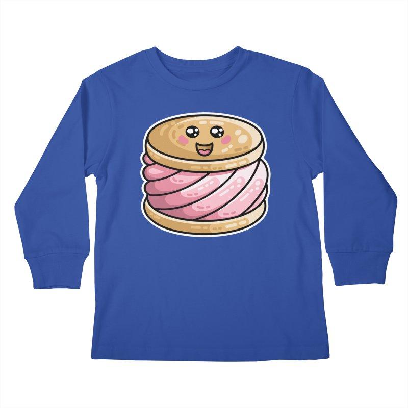 Kawaii Cute Ice Cream Sandwich Kids Longsleeve T-Shirt by Flaming Imp's Artist Shop