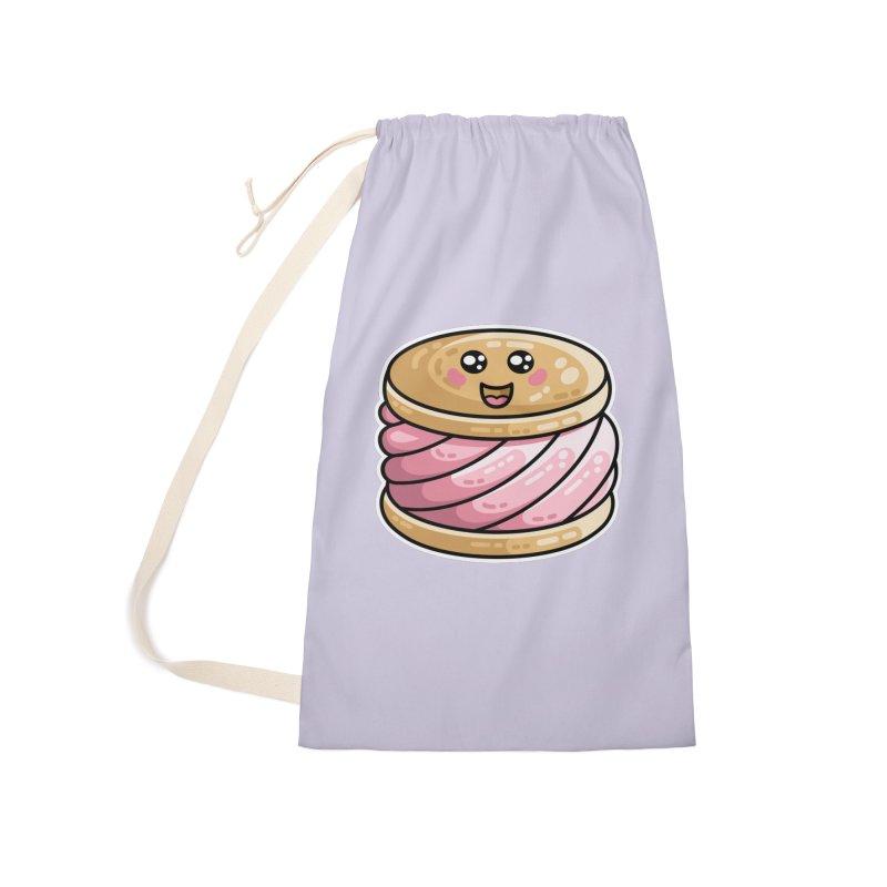 Kawaii Cute Ice Cream Sandwich Accessories Bag by Flaming Imp's Artist Shop