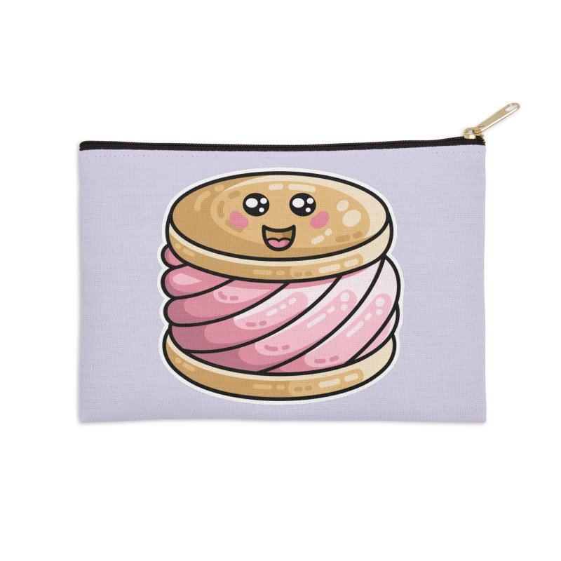 Kawaii Cute Ice Cream Sandwich Accessories Zip Pouch by Flaming Imp's Artist Shop