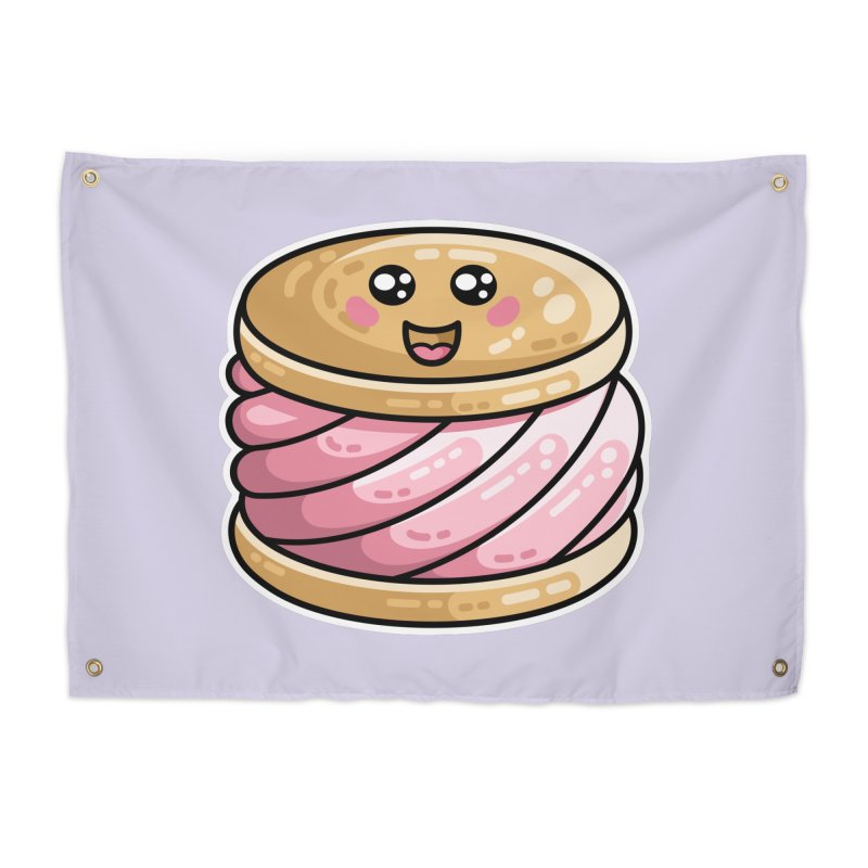 Kawaii Cute Ice Cream Sandwich Home Tapestry by Flaming Imp's Artist Shop