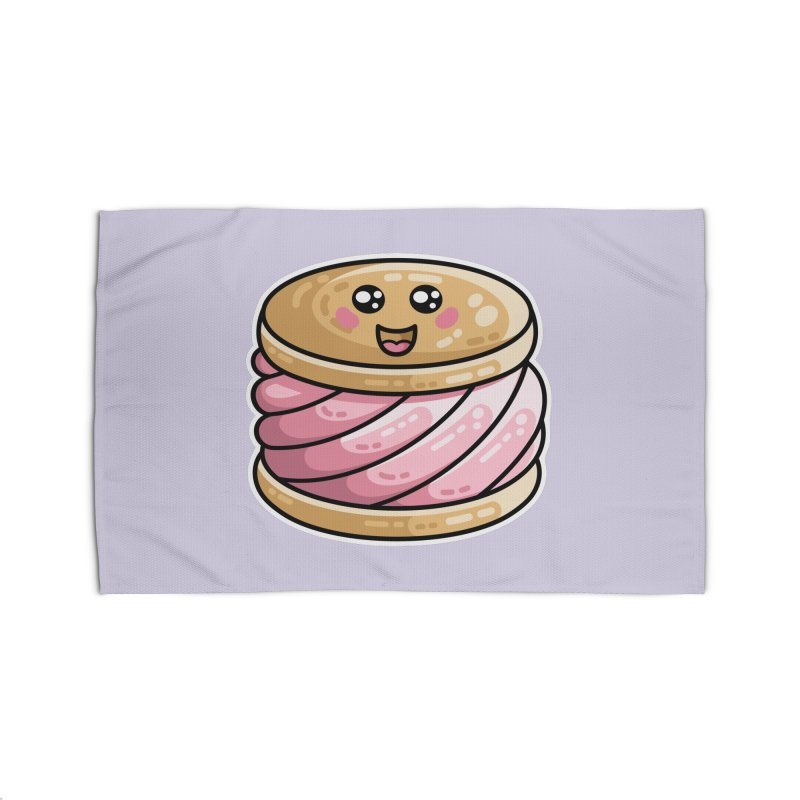 Kawaii Cute Ice Cream Sandwich Home Rug by Flaming Imp's Artist Shop