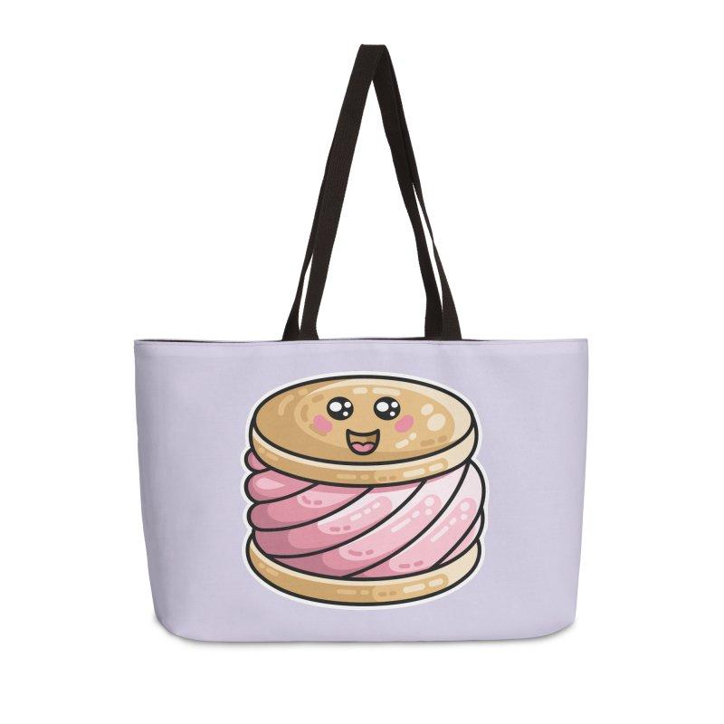 Kawaii Cute Ice Cream Sandwich Accessories Weekender Bag Bag by Flaming Imp's Artist Shop