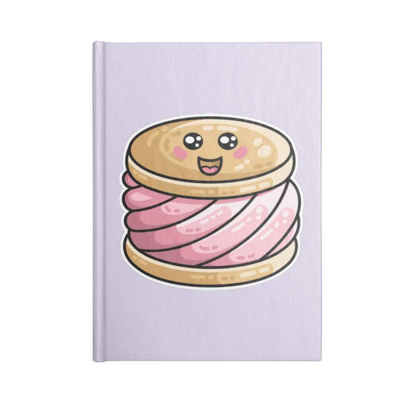 Kawaii Cute Ice Cream Sandwich Accessories Lined Journal Notebook by Flaming Imp's Artist Shop